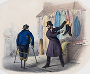 Jewish old clothes dealer. Early 19th century.