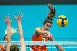 Anne Buijs of Netherlands in action during the Women's friendly match between Belgium and Netherlands at Topsporthal Beveren on may 09, 2021 in Beveren, Belgium (Photo by RHF Agency/Ronald Hoogendoorn)