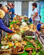 Święto Rydza w Wysowej-Zdroju (woj. małopolskie) 2019-09-28. To impreza dla grzybiarzy, miłośników dobrego jedzenia i karpackiego rękodzieła, pasjonatów przyrody i fanów beskidzkich zakątków. Namiot w którym prezentowano grzyby występujące w okolicznych lasach.