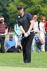 27.06.2015, Golfclub München Eichenried, Muenchen, GER, BMW International Golf Open, Tag 3, im Bild Marcel Schneider (GER) beim Chip aufs Green // during day three of the BMW International Golf Open at the Golfclub München Eichenried in Muenchen, Germany on 2015/06/27. EXPA Pictures © 2015, PhotoCredit: EXPA/ Eibner-Pressefoto/ Kolbert<br /> <br /> *****ATTENTION - OUT of GER*****