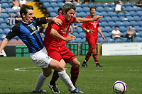 Photo: Paul Greenwood.<br />Stockport County v Cardiff City. Coca Cola Championship. Pre Season Friendly. 28/07/2007.<br />Stockport's Greg Tansey, (L) battles for the ball with Kevin McNaughton