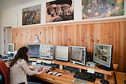 Iberian Lynx (Lynx pardinus) being monitored 24hrs a day.<br /> El Acebuche Breeding Center, Matalascañas, Huelva. SPAIN<br /> RANGE: Iberian Penninsula of Spain & Portugal.<br /> CITES 1, CRITICAL - DANGER OF EXTINCTION<br /> Fewer than 200 animals in the wild. There is a reduced genetic variability due to their small population. They have suffered due to hunting, habitat loss, road accidents, reduced food supply due to desease in rabbits (Myxomatosis & RHD) - their base food supply. Deseases such as feline leukaemia<br /> A medium sized cat weighing 12-15kgs, Body length 90cm, Shoulder height 45-50cm. They have a mottled fur pattern, (3 varieties of fur pattern found between the different populations and distinguishing them geographically)  short tail, ear tufts and are bearded. They are territorial cats although female cubs have been found to share their mother's territory. Mating occurs in Dec/Jan and cubs born around April. They live up to 13 years.<br /> <br /> Mission: Iberian Lynx, May 2009<br /> © Pete Oxford / Wild Wonders of Europe<br /> Zaldumbide #506 y Toledo<br /> La Floresta, Quito. ECUADOR<br /> South America<br /> Tel: 593-2-2226958<br /> e-mail: pete@peteoxford.com<br /> www.peteoxford.com