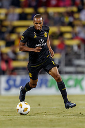September 22, 2018 - Columbus, OH, U.S. - COLUMBUS, OH - SEPTEMBER 22: Columbus Crew midfielder Ricardo Clark (2) in action during the MLS regular season game between the Columbus Crew SC and the Colorado Rapids on September 22, 2018 at Mapfre Stadium in Columbus, OH. The Crew won 2-1. (Photo by Adam Lacy/Icon Sportswire) (Credit Image: © Adam Lacy/Icon SMI via ZUMA Press)
