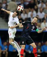John Stones of England in duel with Ivan Rakitic of Croatia during the 2018 FIFA World Cup Russia, semi-final football match between Croatia and England on July 11, 2018 at Luzhniki Stadium in Moscow, Russia - Photo Tarso Sarraf / FramePhoto / ProSportsImages / DPPI