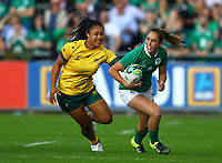 Rugby Union - 2017 Women's Rugby World Cup (WRWC) - Pool C: Ireland vs. Australia<br /> <br /> Ireland's Eimear Considine in action against Australia's Kayla Sauvao , at the UCD Bowl, Dublin.<br /> <br /> COLORSPORT/KEN SUTTON