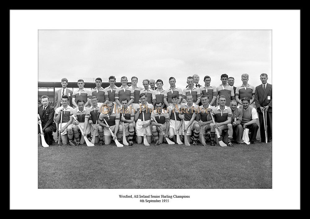 All-Ireland Senior Hurling Champions i 1955. Wexford vant over Galway, som var deres andre All-.Ireland tittel siden deres første i 1910. Toppscorer ble Nicky Rackard, og laget ble ledet av kaptein.Nick O'Donnell.