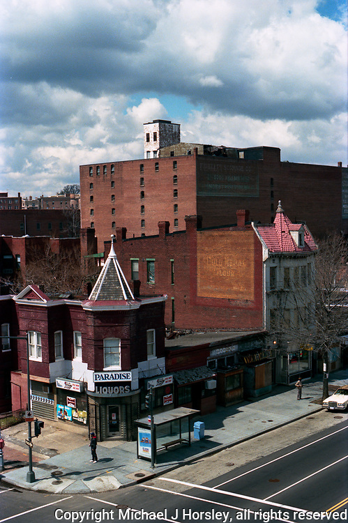 A view from the rooftop of the JavaRama 14th and T street NW Washington DC 1987