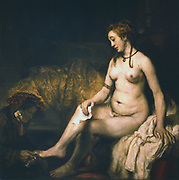 Bathsheba (1654)  Rembrandt van Rijn (1609-1669) Dutch painter. Oil on canvas. Louvre, Paris.
