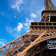 View of the Eiiffel Tower from on of its pillars