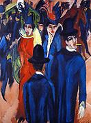 Ernst Ludwig Kirchner (6 May 1880 – 15 June 1938),  German expressionist painter Berlin-Street-Scene