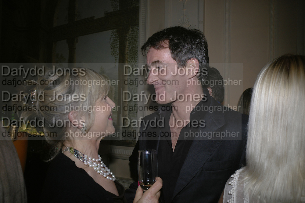 ROSIE MARCHIONESS OF NORTHAMPTON AND TIM JEFFERIES, Tatler Summer party. Home House. Portman Sq. London. 27 June 2007.  -DO NOT ARCHIVE-© Copyright Photograph by Dafydd Jones. 248 Clapham Rd. London SW9 0PZ. Tel 0207 820 0771. www.dafjones.com.