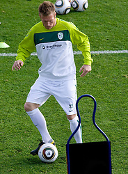 Matej Mavric of Slovenia during a training session at  Hyde Park High School Stadium on June 10, 2010 in Johannesburg, South Africa.  (Photo by Vid Ponikvar / Sportida)