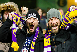 Supporters of Maribor during football match between NK Maribor, SLO  and FC Schalke 04, GER in Group G of Group Stage of UEFA Champions League 2014/15, on December 9, 2014 in Stadium Ljudski vrt, Maribor, Slovenia. Photo by Vid Ponikvar / Sportida