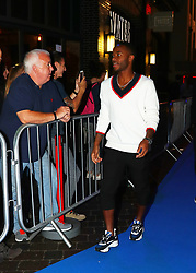 Raheem Sterling arriving for the All or Nothing: Manchester City, world premiere at Vue Printworks, Manchester.