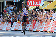 Arrival, Julian Alaphilippe (FRA - QuickStep - Floors) Polka dots jersey, winner during the 105th Tour de France 2018, Stage 16, Carcassonne - Bagneres de Luchon (218 km) on July 24th, 2018 - Photo Kei Tsuji / BettiniPhoto / ProSportsImages / DPPI