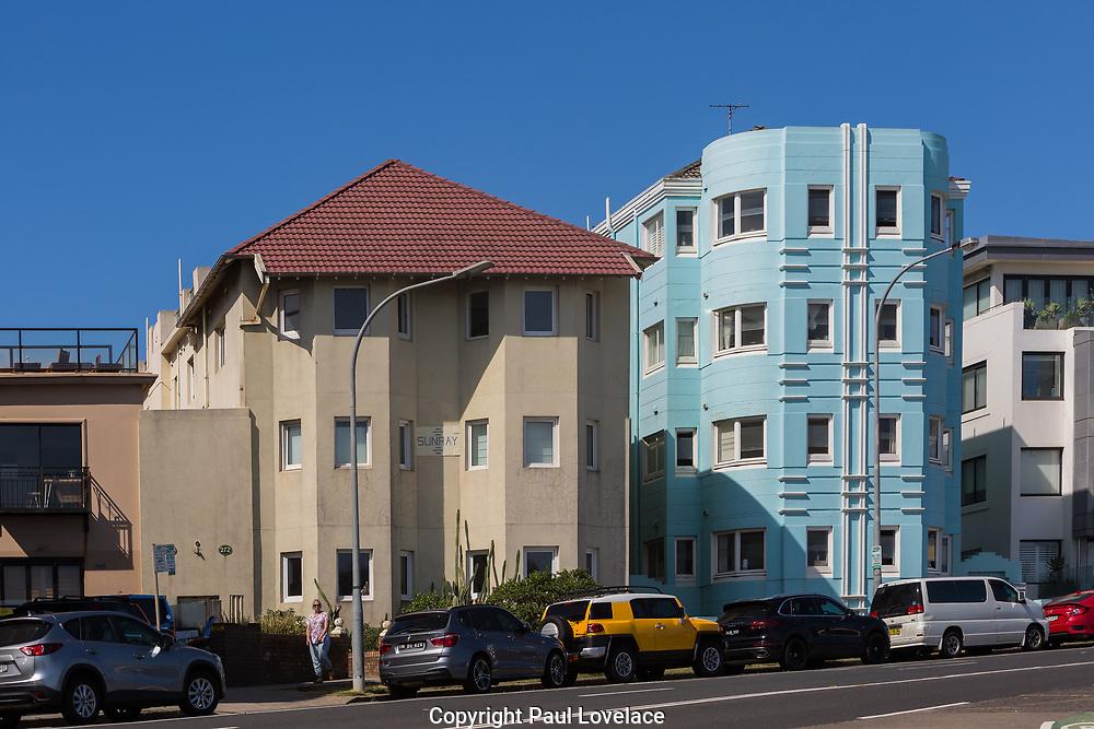 Art Deco Apartments at Bondi Beach, Sydney, Australia.