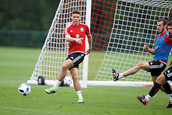 CARDIFF, WALES - Saturday, June 4, 2016: Wales' James Chester during a training session at the Vale Resort Hotel ahead of the International Friendly match against Sweden. (Pic by David Rawcliffe/Propaganda)