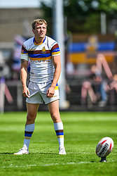 Whitehavens' Jordan Burns prepares to kick at goal<br /> <br /> Photographer Craig Thomas/Replay Images<br /> <br /> Betfred League 1 - West Wales Raiders v Whitehaven  - Saturday 23rd June 2018 - Stebonheath Park - Llanelli<br /> <br /> World Copyright © 2017 Replay Images. All rights reserved. info@replayimages.co.uk - www.replayimages.co.uk