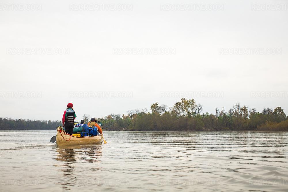 Paddling the lower Mississippi River.