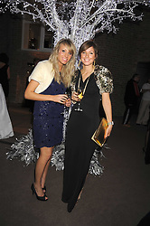 Left to right, HAYLEY DURRELL and BECKY HUTCHINS at the Asprey Winter Wonderland party held at their store, 167 New Bond Street, London on 4th December 2008.