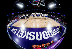Players of Italy listening to the National anthem during basketball match between National Teams of Finland and Italy at Day 10 in Round of 16 of the FIBA EuroBasket 2017 at Sinan Erdem Dome in Istanbul, Turkey on September 9, 2017. Photo by Vid Ponikvar / Sportida