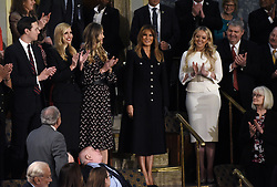 U.S. First Lady Melania Trump, center, is applauded while arriving ahead of a State of the Union address to a joint session of Congress at the U.S. Capitol February 5, 2019 in Washington, DC. DC.Photo by Olivier Douliery/ABACAPRESS.COM