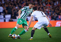 February 28, 2019 - Valencia, U.S. - VALENCIA, SPAIN - FEBRUARY 28: Joaquin Sanchez, midfielder of Real Betis Balompie competes for the ball with Gonalo Guedes, midfielder of Valencia CF during the Copa del Rey match between Valencia CF and Real Betis Balompie at Mestalla stadium on February 28, 2019 in Valencia, Spain. (Photo by Carlos Sanchez Martinez/Icon Sportswire) (Credit Image: © Carlos Sanchez Martinez/Icon SMI via ZUMA Press)