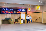 Sydney, Australia. Monday 4th May 2020. St James station in the central business district of Sydney  is quite empty today. The new rules allow groups of two adults and their children to visit other households. Social distancing is still very much in place due to the COVID-19 pandemic.