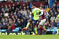 Aston Villa v Derby County - Sky Bet Championship<br /> BIRMINGHAM, ENGLAND - APRIL 28 :  Tom Huddlestone, of Derby County gets to the ball infront of Aston Villa's Conor Hourihane