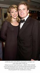 LORD & LADY DALMENY at a ball in London on 15th May 2001.OOE 63