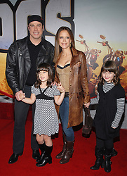 File photo - John Travolta, wife Kelly Preston and daughters attend the 'Wild Hogs' premiere held at Premiere at El Capitan Theatre in Los Angeles, CA, USA on January 27, 2007. Kelly Preston, the actress married to John Travolta, has died after a private battle with breast cancer, aged 57. The actress had been battling against breast cancer for two years, with a family representative confirming news of her passing to People today. Photo by Lionel Hahn/ABACAPRESS.COM