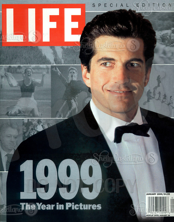 Jan 01, 2000; New York, NY, USA; LIFE Magazine Special Edition 1999 'The Year in Pictures'. Cover photo of JOHN F. KENNEDY JR in a tuxedo.  On July 19, 1999 JFK Jr and his wife died when their plane crashed off the coast of Martha's Vineyard. <br />Mandatory Credit: Photo by Arnaldo Magnani/Liason/ZUMA Press.<br />(©) Copyright 2000 by Arnaldo Magnani/LIFE