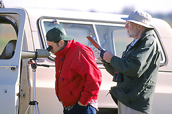 Mike Kreger & Paul Husted Observing Whooping Cranes