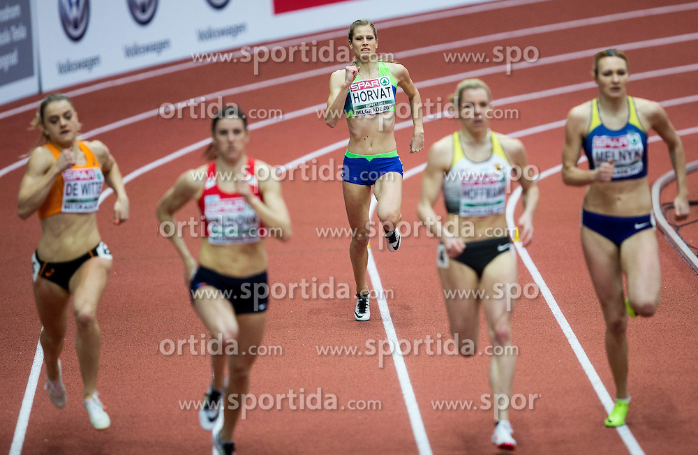 Anita Horvat of Slovenia competes in the Women's 400 metres heats on day one of the 2017 European Athletics Indoor Championships at the Kombank Arena on March 3, 2017 in Belgrade, Serbia. Photo by Vid Ponikvar / Sportida