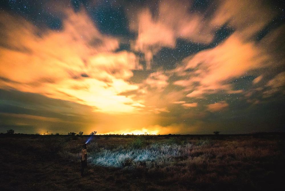 Wild Bushfires at Kimberley, Western Australia