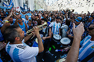 Argentina Fans at Nikol Skaya Plaza during the 2018 FIFA World Cup Russia on June 15, 2018 in Moscow, Russia - Photo Thiago Bernardes / FramePhoto / ProSportsImages / DPPI