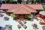 Grand Courtyard, Villa BXV, Bronxville, New York