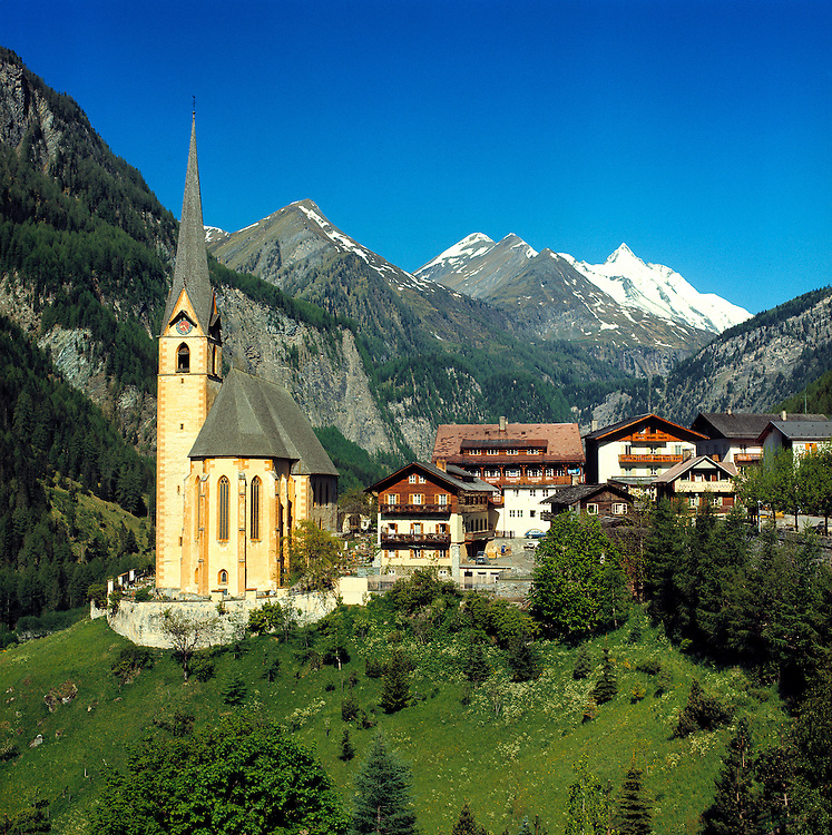 Heiligenblut sits at the base of the Grossglockner Pass in the Hohe Tauern Alps in Austria.