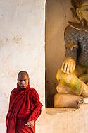 Buddhist monk at the Pagoda Festival in Bagan, Myanmar (Burma)