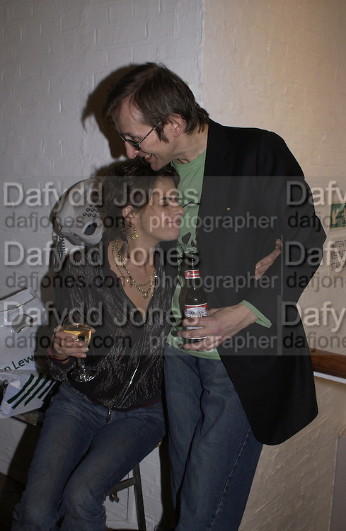 Tracey Emin, Colony Room club exhibition and auction. Elms Lester Painting rooms, Flitcroft St. 5 December 2003. © Copyright Photograph by Dafydd Jones 66 Stockwell Park Rd. London SW9 0DA Tel 020 7733 0108 www.dafjones.com