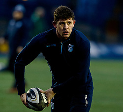 Lloyd Williams of Cardiff Blues during the pre match warm up<br /> <br /> Photographer Simon King/Replay Images<br /> <br /> Guinness PRO14 Round 14 - Cardiff Blues v Connacht - Saturday 26th January 2019 - Cardiff Arms Park - Cardiff<br /> <br /> World Copyright © Replay Images . All rights reserved. info@replayimages.co.uk - http://replayimages.co.uk