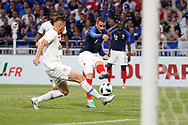 Antoine Griezmann of France and Matthew Miazga of USA during the 2018 Friendly Game football match between France and USA on June 9, 2018 at Groupama stadium in Decines-Charpieu near Lyon, France - Photo Romain Biard / Isports / ProSportsImages / DPPI