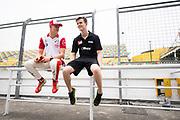 Callum ILOTT, GBR, Carlin Dallara-Volkswagen , Mick SCHUMACHER, GER, SJM Theodore Racing by PREMA Dallara-Mercedes<br /> <br /> 65th Macau Grand Prix. 14-18.11.2018.<br /> Suncity Group Formula 3 Macau Grand Prix - FIA F3 World Cup<br /> Macau Copyright Free Image for editorial use only