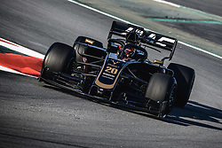 February 28, 2019 - Barcelona, Catalonia, Spain - KEVIN MAGNUSSEN (DEN) from team Haas drives in his VF-19 during day seven of the Formula One winter testing at Circuit de Catalunya (Credit Image: © Matthias OesterleZUMA Wire)