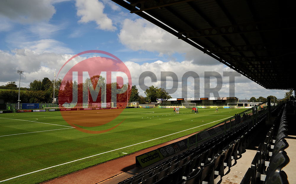 General views inside the stadium- Mandatory by-line: Nizaam Jones/JMP - 05/09/2020 - FOOTBALL - New Lawn Stadium - Nailsworth, England - Forest Green Rovers v Leyton Orient - Carabao Cup