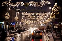 15.01.2014 Warszawa N/z swiateczne ozdoby na ulicy Nowy Swiat fot Michal Kosc / AGENCJA WSCHOD