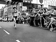 Gerry Kiernan of Listowel, Kerry, looking remarkably fresh as he wins the men's event at the Dublin City Marathon.<br /> 25 October 1982