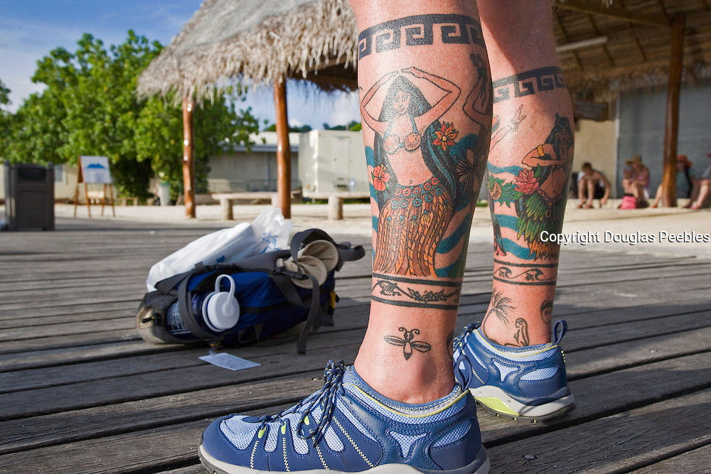 Tatoo, Bora Bora, French Polynesia, (Editorial use only)<br />
