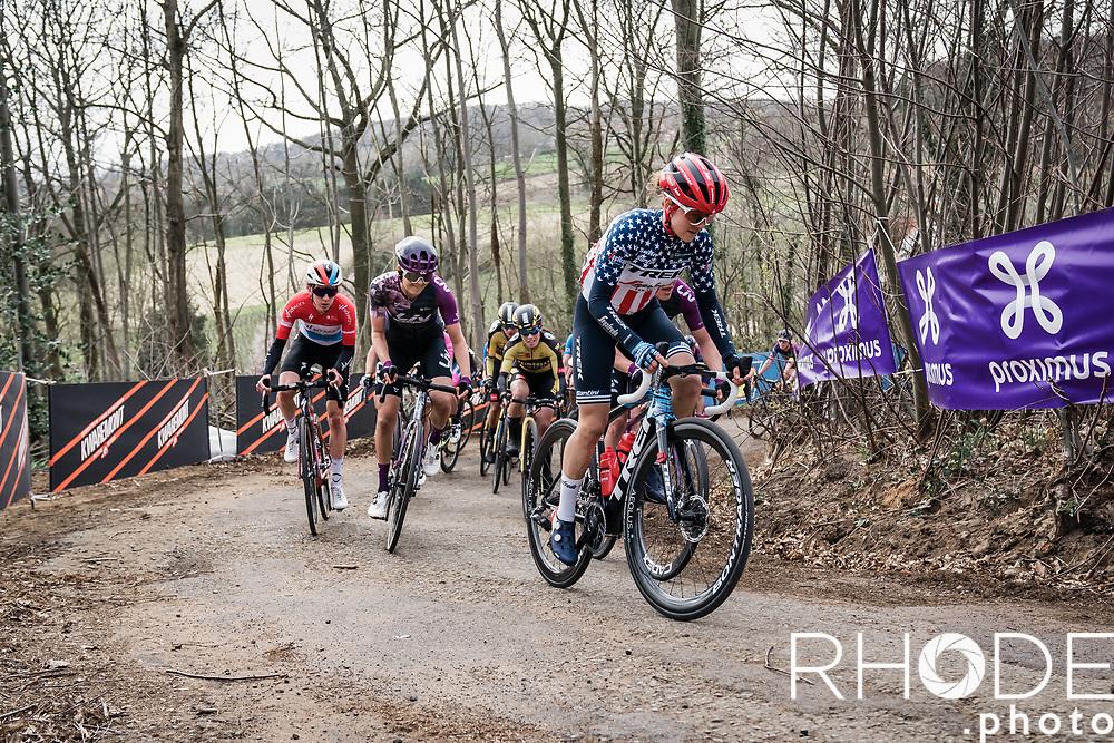 Ruth Winder (USA/Trek-Segafredo)<br /> <br /> 10th Gent-Wevelgem in Flanders Fields 2021<br /> Elite Womens Race (1.WWT)<br /> <br /> One Day Race from Ypres (Ieper) to Wevelgem 142km<br /> <br /> ©RhodePhoto