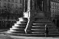 Monument, fountain, Paris, France<br />